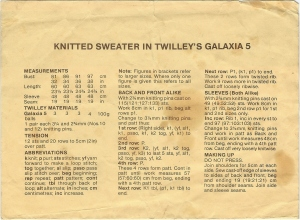 Instructions for 80s top
